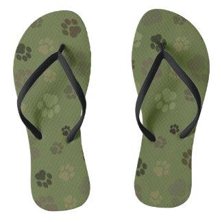 Pawprint Camouflage Unisex Flip-Flops Thongs