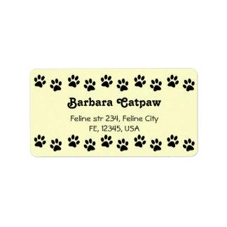 Pawprint custom address lables Paw print Label
