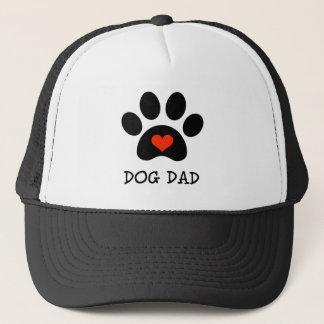 Pawprint Dog Dad Trucker Hat