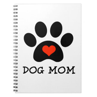 Pawprint Dog Mom Notebooks