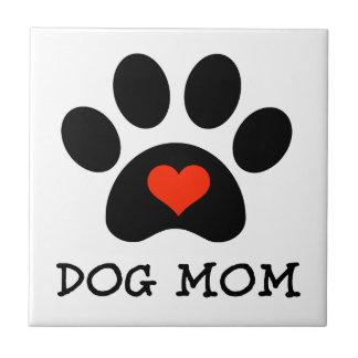 Pawprint Dog Mom Tile