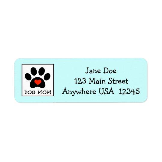 Pawprint Dog Mum Return Address Label