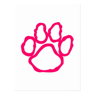 Pawprint Outline Postcard