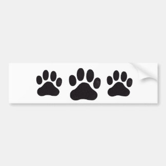 PawPrint, PawPrint, PawPrint Bumper Sticker