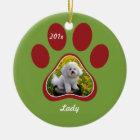 Pawprint Personalised Pet Ornament