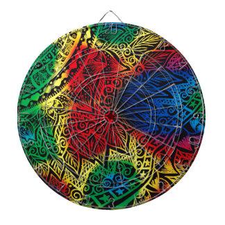 Pawprint Rainbow Dartboard