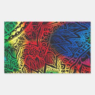 Pawprint Rainbow Rectangular Sticker