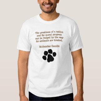 PawPrintGhandi Tshirt
