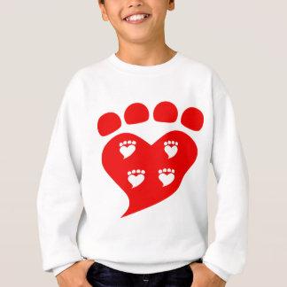 Pawprints Heart Logo T Sweatshirt