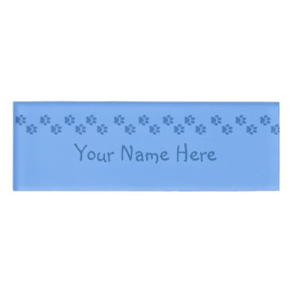 Pawprints Name Tag