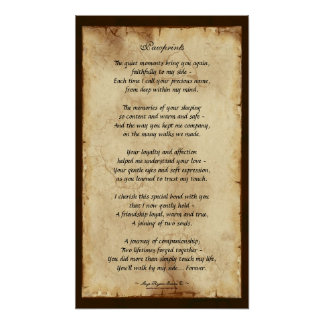 """Pawprints"" Pet Memorial Poetry Poster"