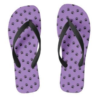 Pawprints Purple (4) Thongs