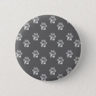 paws 6 cm round badge