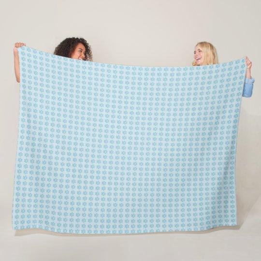 Paws-Blue-White--Fleece-Lg Fleece Blanket