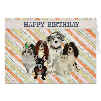 PAWS, CLAWS & FEATHERS Birthday Card