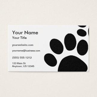Paws Custom Color Business Card