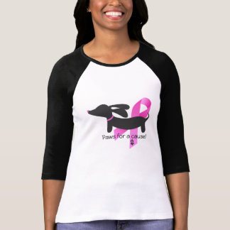 Paws for a Cause | Breast Cancer | Dachshund T-Shirt