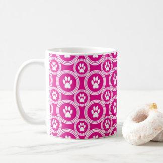 Paws-for-Coffee Mug (Magenta)
