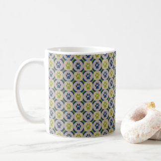 Paws-for-Coffee Mug (Olive/Navy)