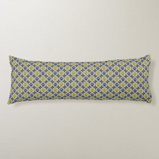 Paws-for-Comfort Body Pillow (Olive/Navy)
