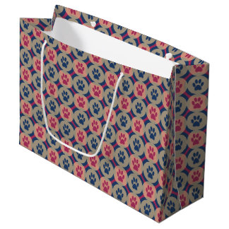 Paws-for-Giving Gift Bag (Berry/Navy)