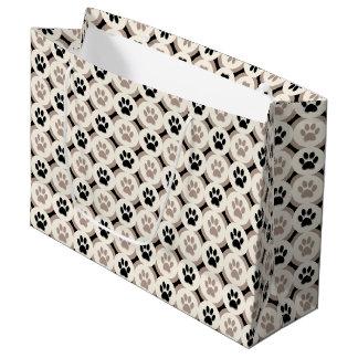 Paws-for-Giving Gift Bag (black/tan)