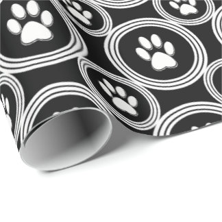Paws-for-Giving Gift Wrap (Black)