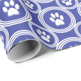 Paws-for-Giving Gift Wrap (Indigo)