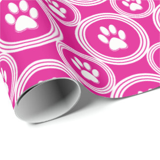 Paws-for-Giving Gift Wrap (Magenta)