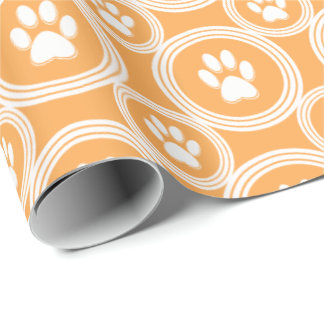 Paws-for-Giving Gift Wrap (Marigold)