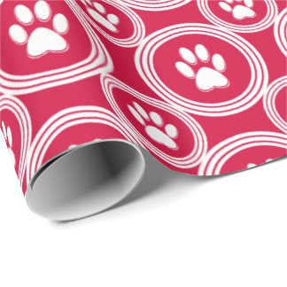 Paws-for-Giving Gift Wrap (Red)