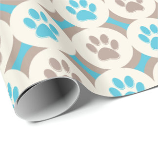 Paws-for-Giving Gift Wrap (Sky/Tan)