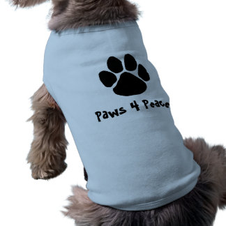 Paws For Peace Cute T Sleeveless Dog Shirt
