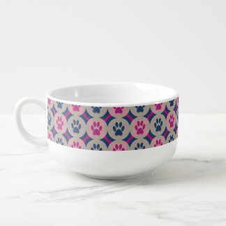 Paws-for-Soup Mug (Berry/Navy)