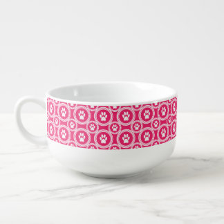 Paws-for-Soup Mug (Cherry) Soup Bowl With Handle