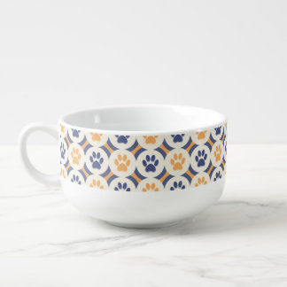 Paws-for-Soup Mug (Mustard/Navy)