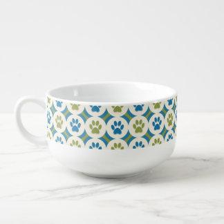 Paws-for-Soup Mug (Olive/Teal)