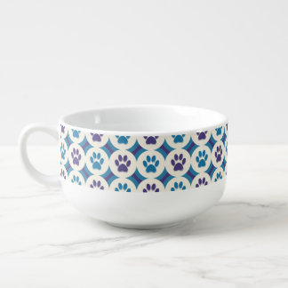 Paws-for-Soup Mug (Violet/Teal)