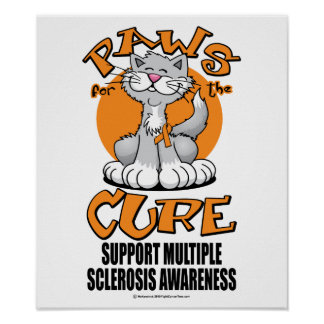 Paws for the Cure Cat Multiple Sclerosis Print