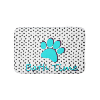 Paws for thought bath mat