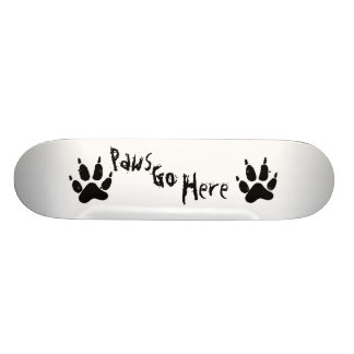 Paws Go Here Skate Deck