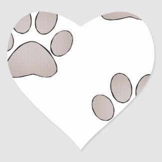 Paws Heart Sticker