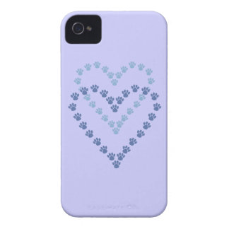 Paws Here iPhone 4/4S Case-Mate Case Blue Paw Prin