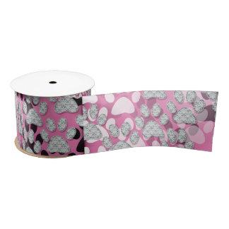 Paws pink Ribbon Satin Ribbon