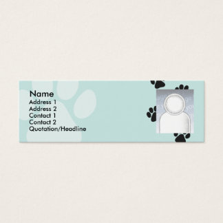 Paws - Skinny Mini Business Card