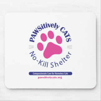 PAWSitively CATS Logo Mousepad