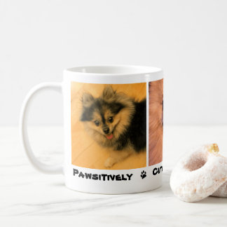 Pawsitively Cute And Adorable Pet Dog Cat Photo Coffee Mug