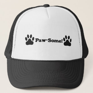 Pawsome Cat Dog Trucker Hat