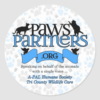 PawsPartners.org Alliance Logo Gear Classic Round Sticker
