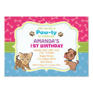 Pawty Birthday Invitation